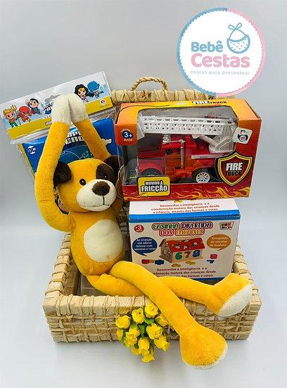 Cesta Cachorro Divertido + Brinquedos