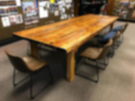 Stoked on my biggest table yet! 12' farmhouse table.jpg