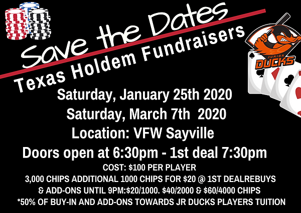 Copy of Save the date poker pro game uni