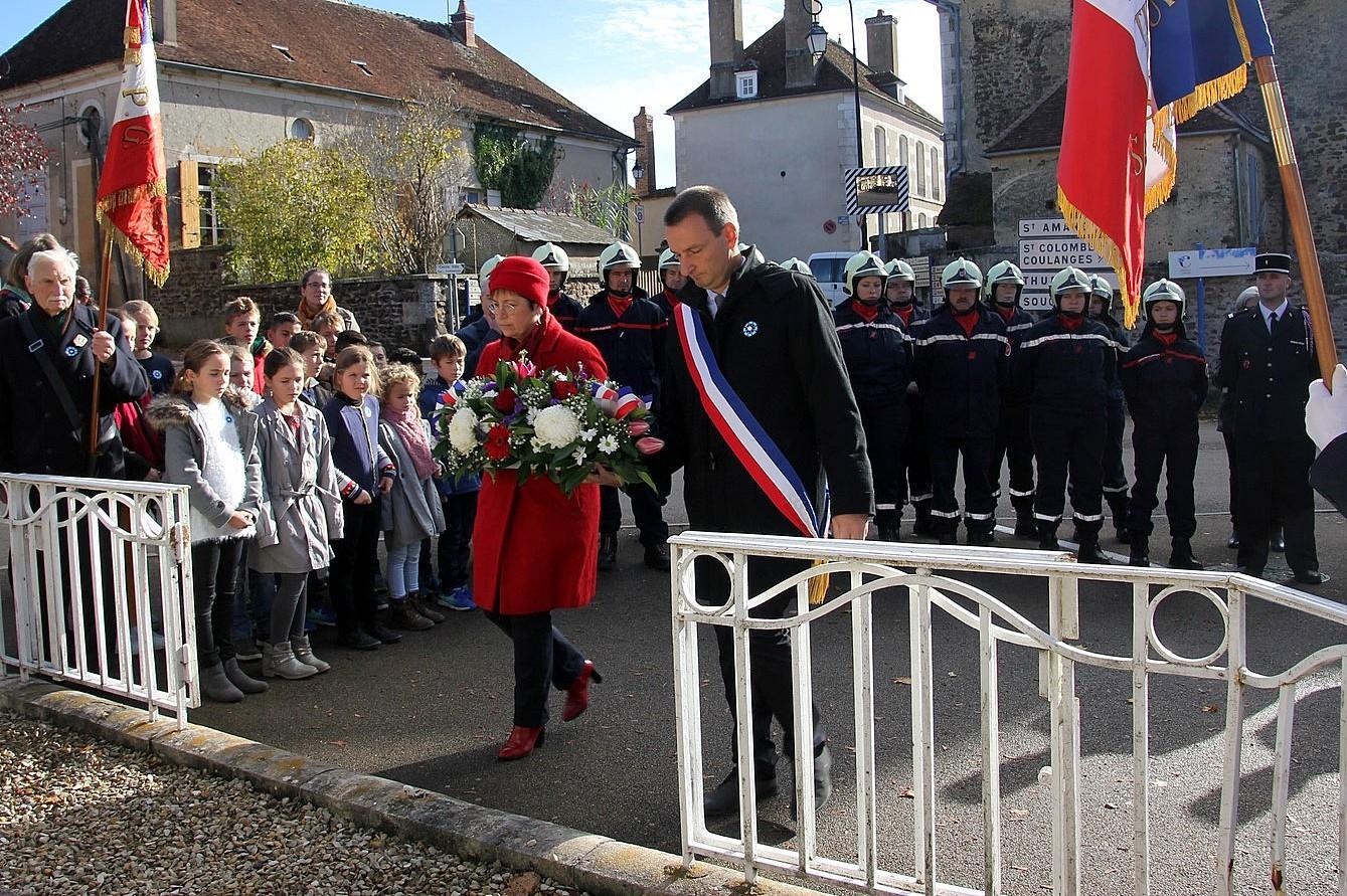 Cérémonies du 11 novembre à Saint-Sauveur-en-Puisaye