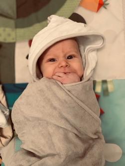Bath wrapped in bath towel.JPG