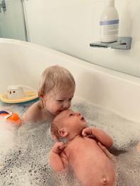 Toddler and Newborn in Bath.jpeg