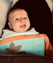 Happy 11 week old baby.JPG