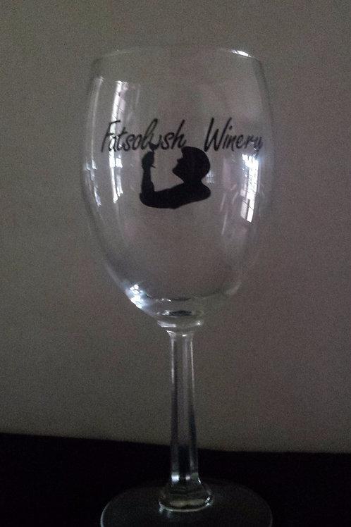 Fatsolush Logo Wine Glass