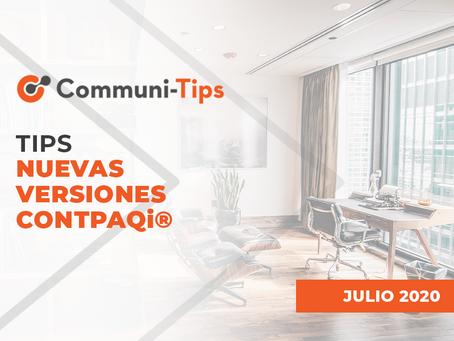 Tips nuevas versiones CONTPAQi®