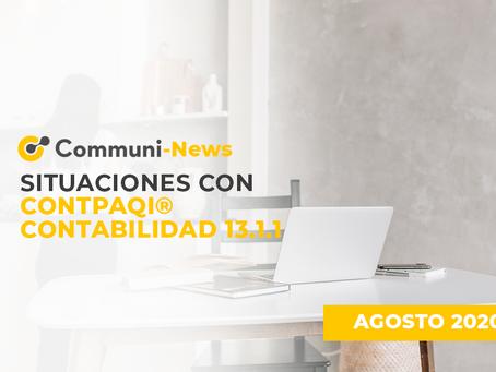 Situaciones con CONTPAQi® Contabilidad 13.1.1