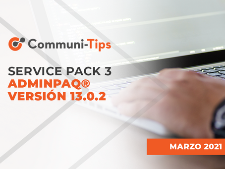 Service Pack 3 AdminPAQ® versión 13.0.2