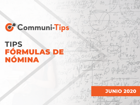Tips fórmulas de nómina