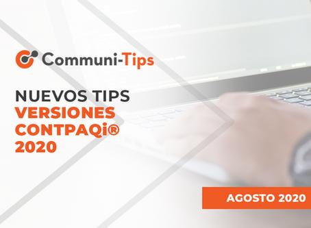 Nuevos tips versiones CONTPAQi® 2020