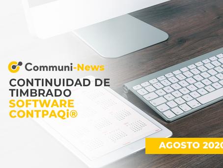 Continuidad de timbrado software CONTPAQi
