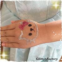 Kitty glitter tattoo