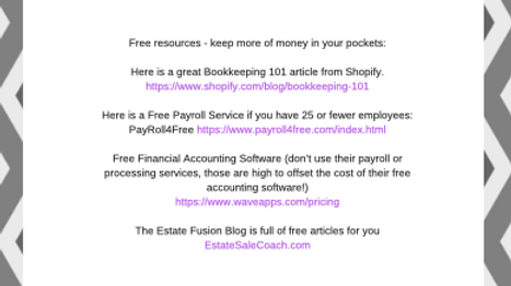 Estate Sale Income