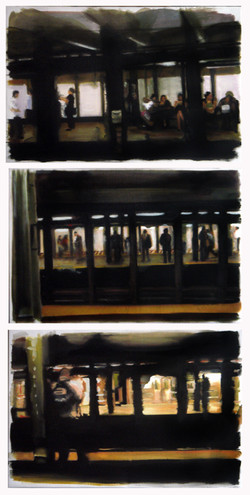 NY Subway triptyque