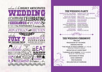 Wedding Agenda