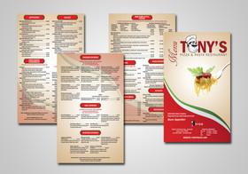 Tony's Pizza Branding