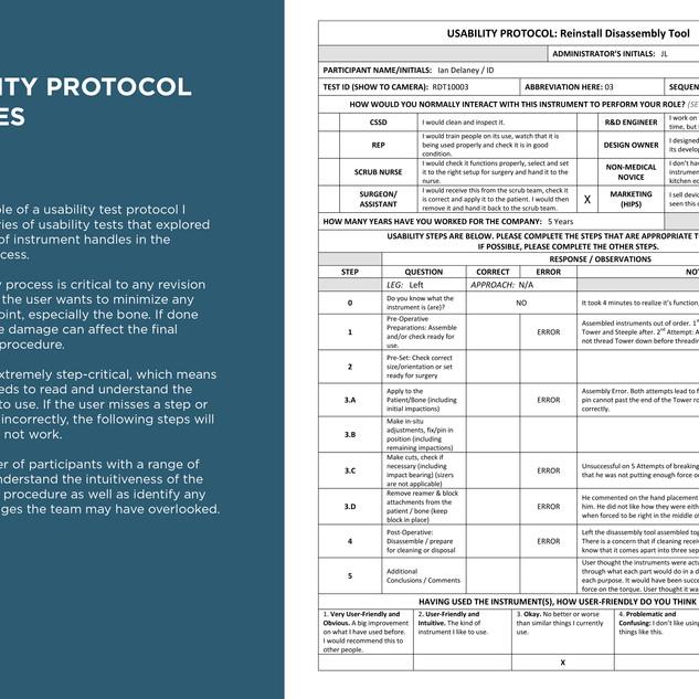 Usability Protocol