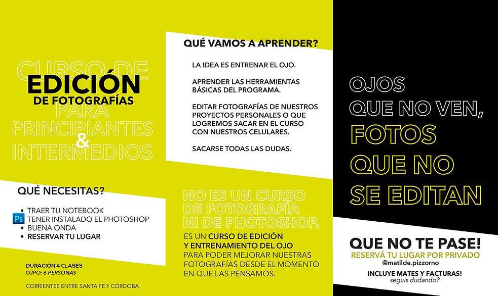 CURSO DE EDICIÓN DE FOTOGRAFÍAS