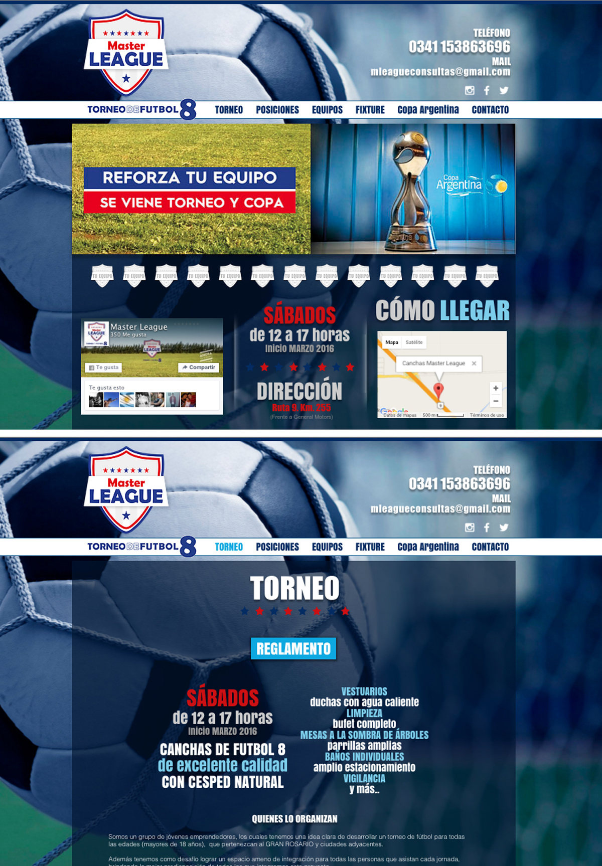 Sitio web Torneo Master League