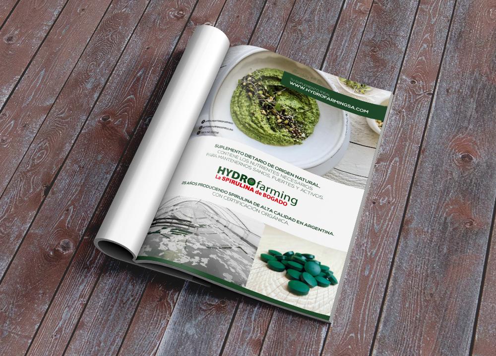 Publicidad Spirulina Hydro Farming