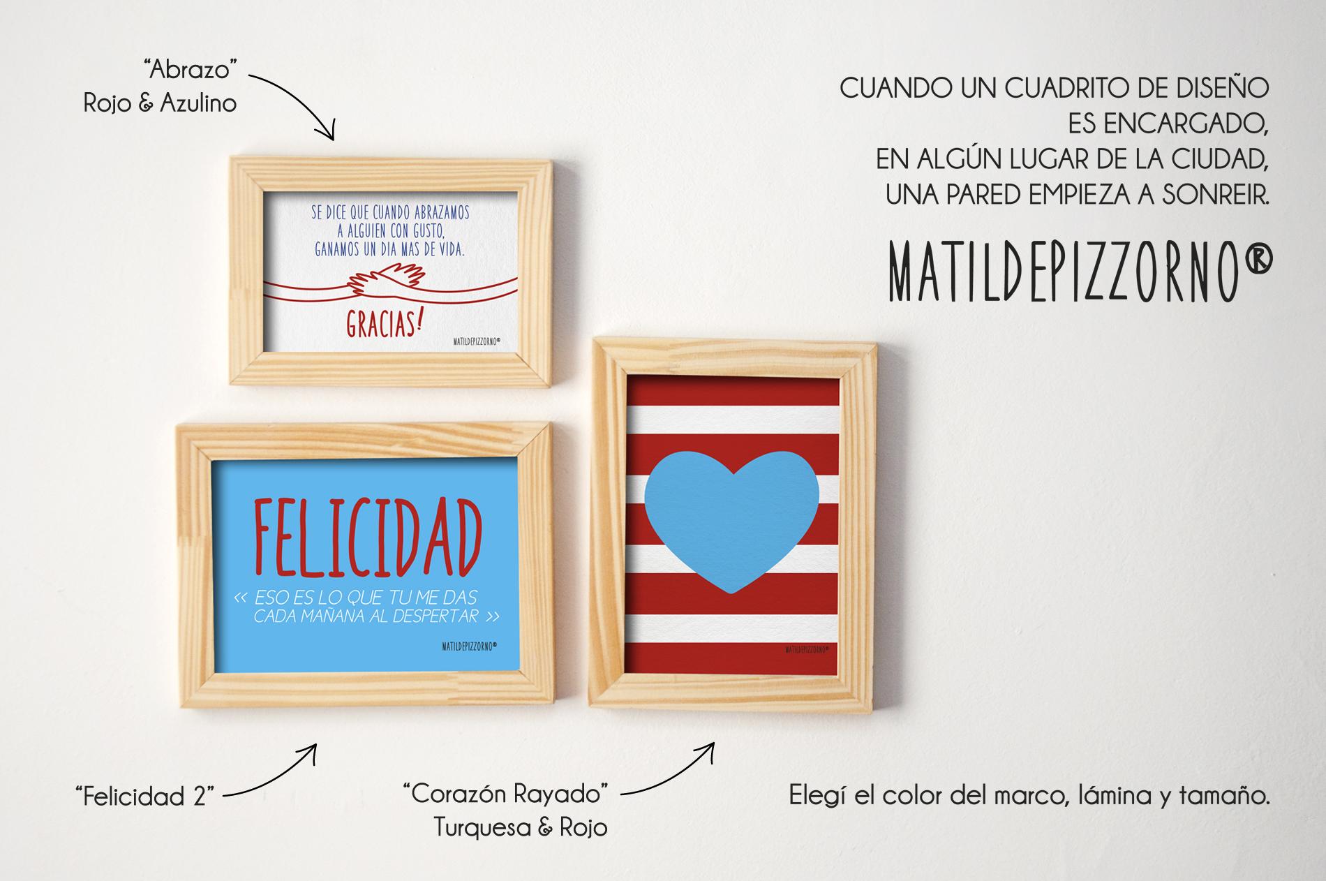 Abrazo, Felicidad 2, Corazón Rayado