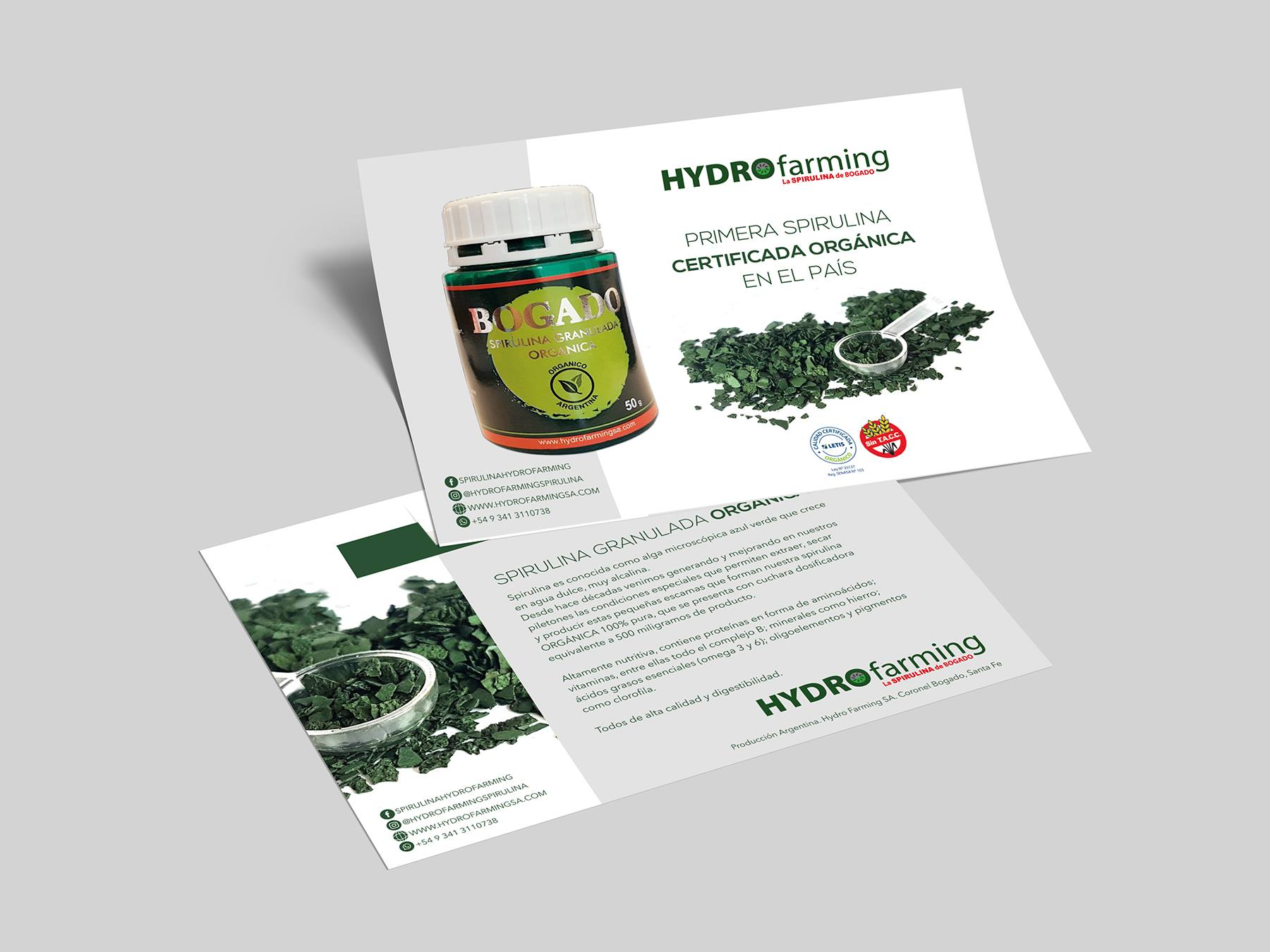 Folleto Hydro Farming. Spirulina