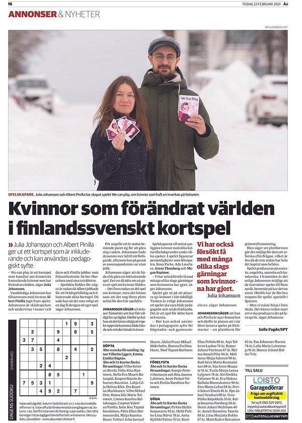 Åbo Underrättelser We Can Play.jpg