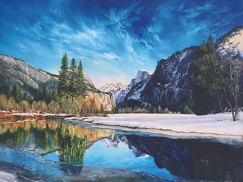 Half Dome Reflection