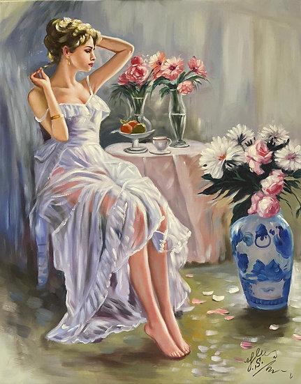 Woman & Flowers
