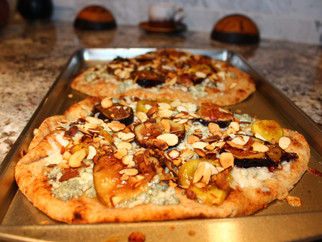 30 Minute Meals - Week 3 - Blue Cheese, Fig and Almond Pizza