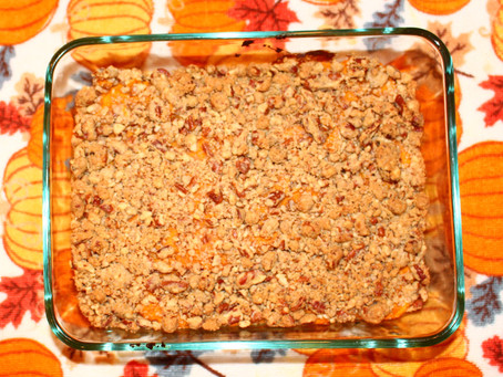 Falling in love with Fall - Week 1 - Pecan Sweet Potato Casserole