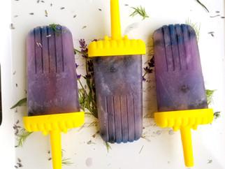 Loving Lavender - Week 3 - Lavender and Blueberry Popsicles