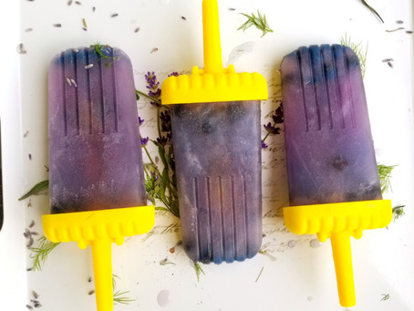 Loving Lavender - Week 3 - Lavender and Blueberry Popsicles