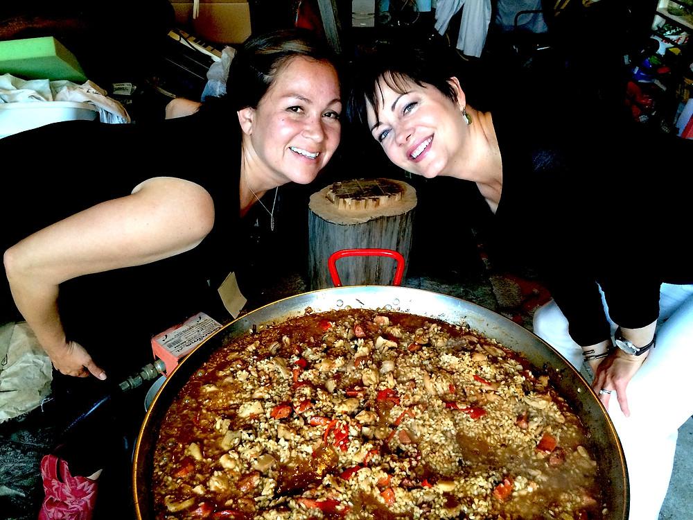 Blog pic - Sharon and me with Paella.jpg