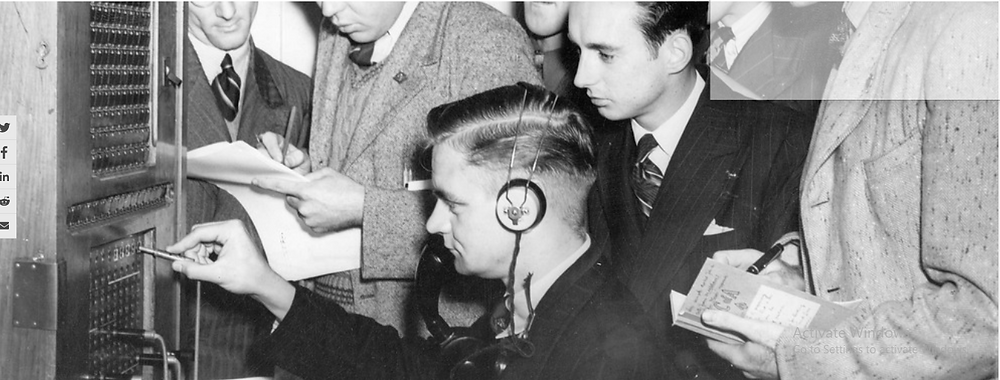 Ex-servicemen receive practical instruction on an operator board in 1946. What can the cybersecurity industry learn from telephone utilities as it strives to boost reliability? (State Library of Victoria/Flickr)