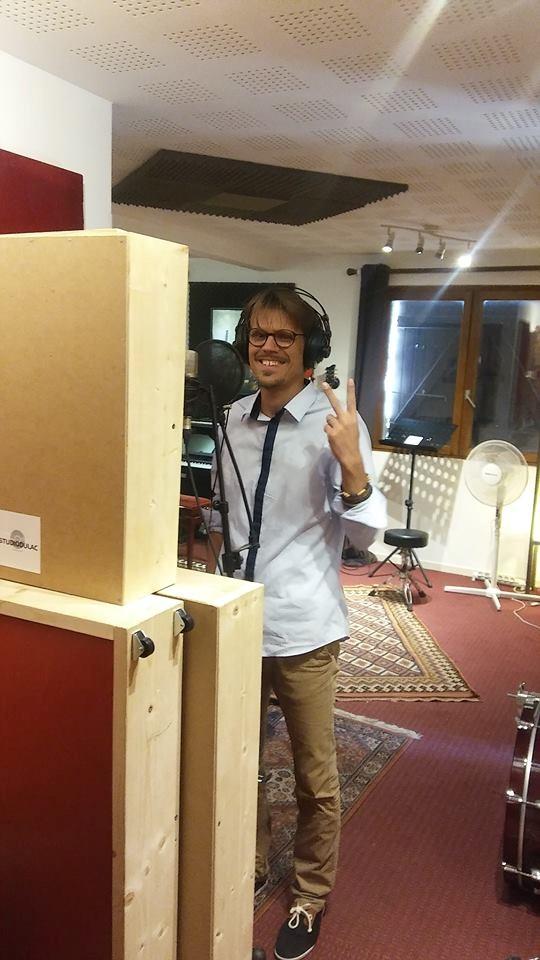 Jonathan Cadoux au studio du lac