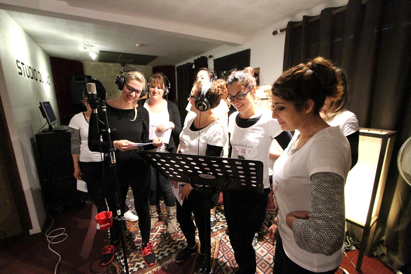 EVJF , enregistrer une chanson au studiodulac
