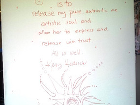 """She Releases Her Artist Soul"" by Kerry Lee - How I released the ""creative constipati"