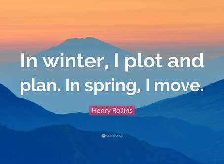 In winter, I plot and plan. In spring, I move.