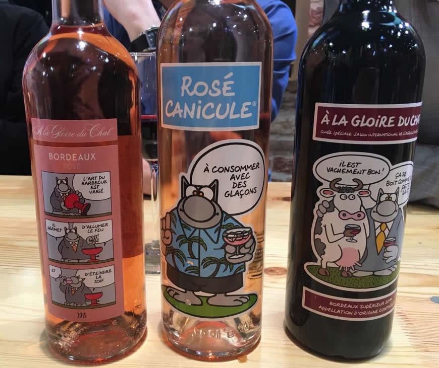 boisson, vin rosé, rosé canicule, le chat de Philippe Geluck