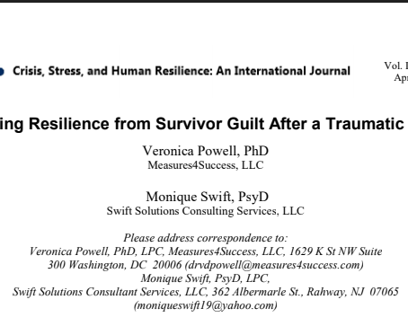 Building Resilience from Survivor Guilt After a Traumatic Event