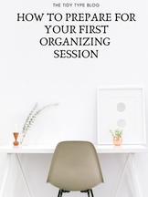 How to Prepare for Your First Organizing Session