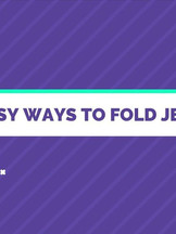 3 Easy Ways To Fold Jeans