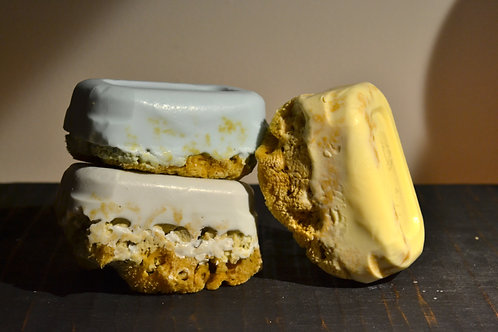 Goats Milk & Olive Oil Soaps w/ Natural Sea Sponge Attached