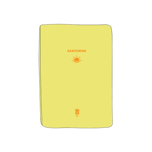 Travel Notebooks with gold foil stamp