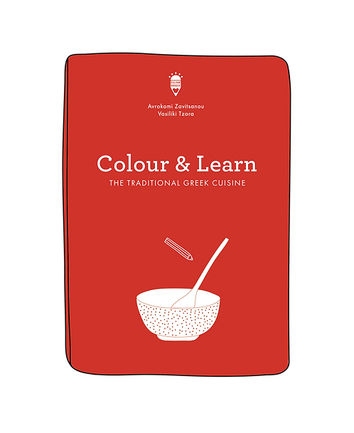 Colour & Learn Series - The Traditional Greek Cuisine