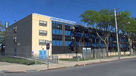 Picture of the outside of the PS/MS 105Q school building