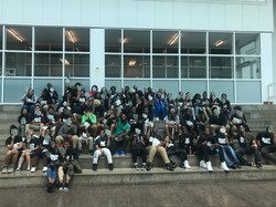 7th grade students at SUNY Old Westbury during their college visit.