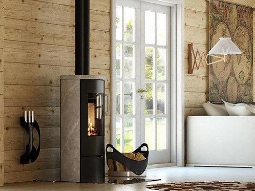 RAIS POLEO II Glass Door Wood Burning Stove