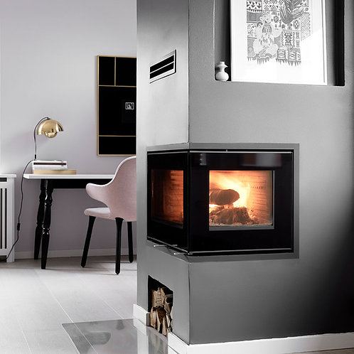 RAIS INSET 500/2 Corner Wood Burning Stove