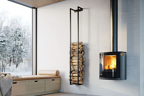 RAIS NEW Q-Tee C Wall Hung Wood Burning Stove